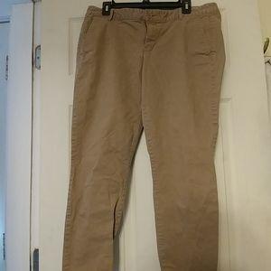 Khakis by Gap Skinny Mini Dark Khaki Colored Pants